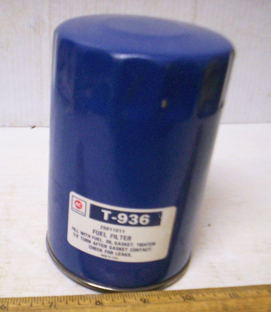 Vintage Ac Spark Plug Fluid Fuel Filter Element P N T 936 Bendix Filters