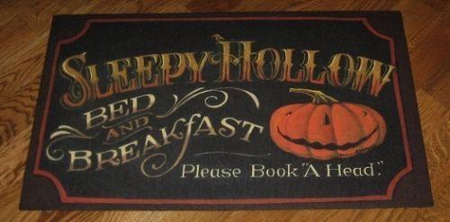 pumpkin halloween rugfloor matprimitive fall decor