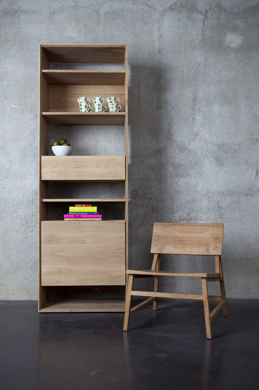51442 Oak Nordic Bookcase