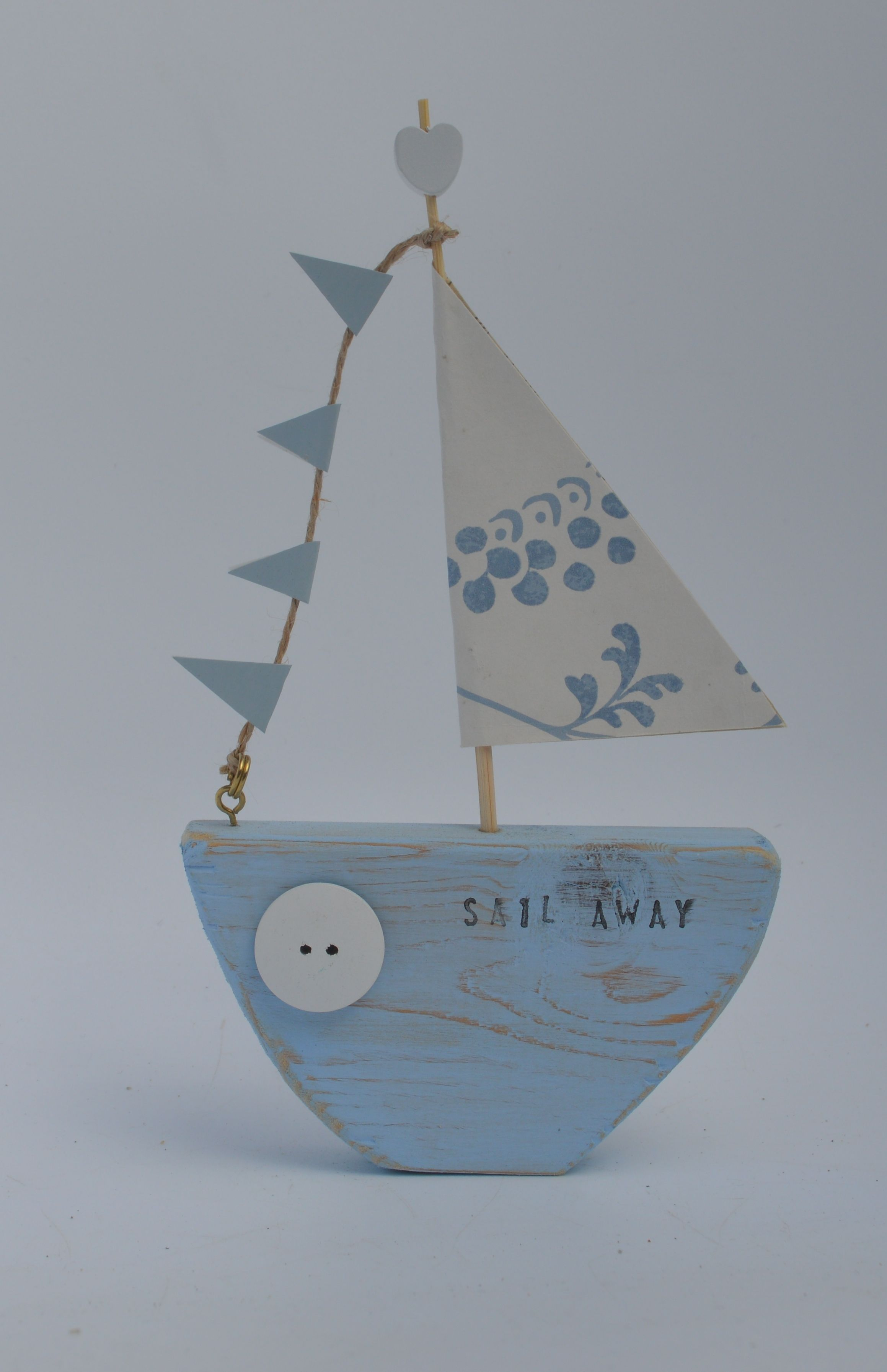 Badezimmer ideen marine sail away pretty sailboat by upcycle art creations  deco station