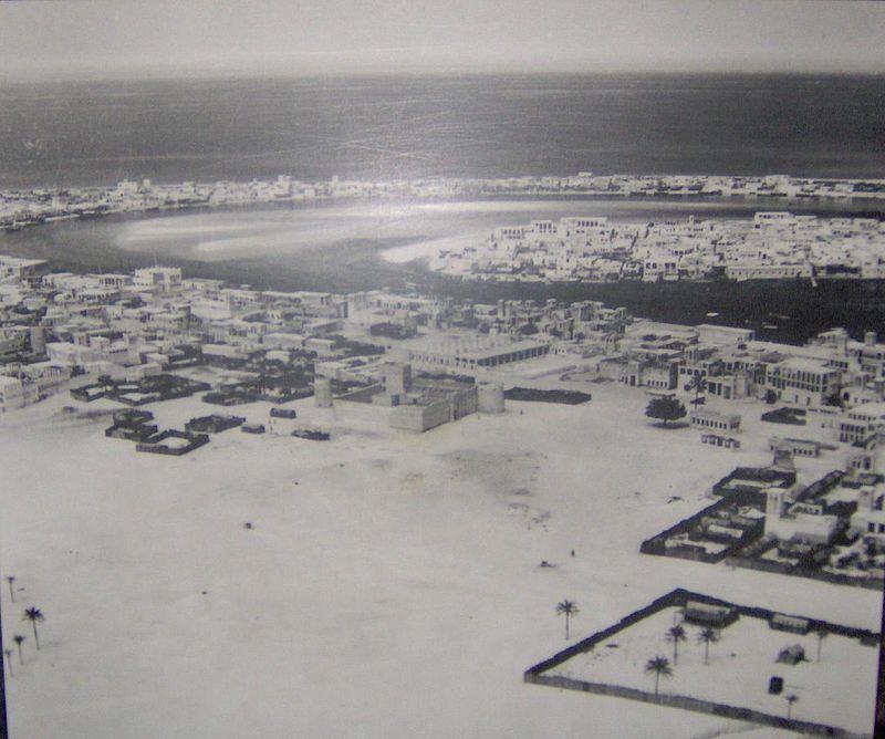 Dubai in 1950 the area in this