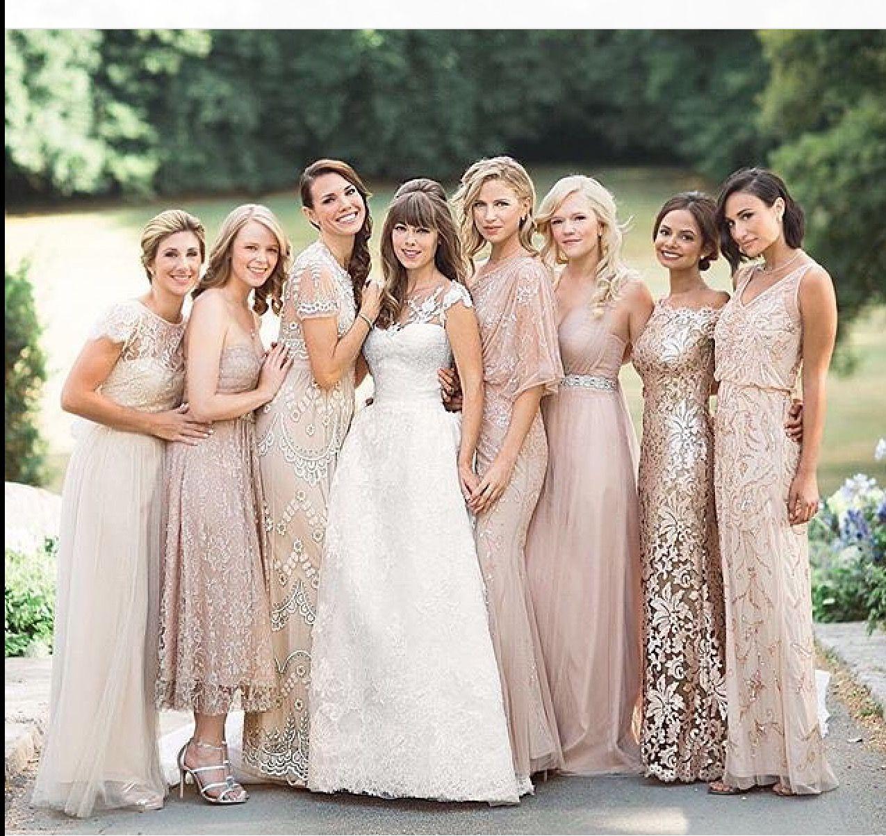 Pin von Camilla Zalka Thomas auf Misatched Bridesmaid Looks   Pinterest