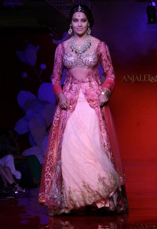 Bipasha Basu walks for Anjalee and Arjun Kapoor