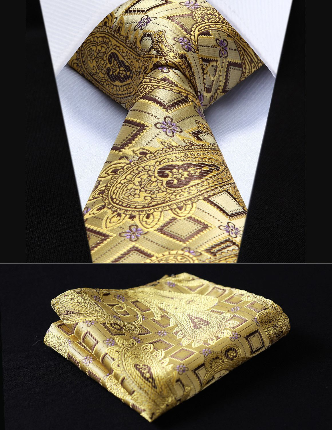 01666e93d6d3 Ancient Egyptian Gold Tie and Handkerchief View Signature Designer Style  Cufflinks at https://