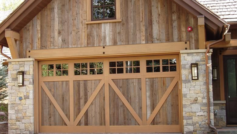 Antique Barnwood - Brown- Really like the wood & garage doors- good idea for - Antique Barnwood - Brown- Really Like The Wood & Garage Doors
