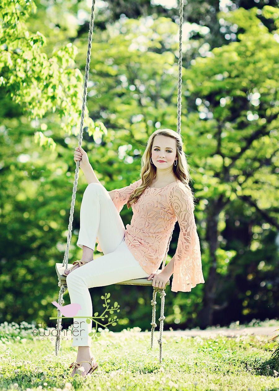 Cute senior pictures, Girl swinging, Senior girl poses
