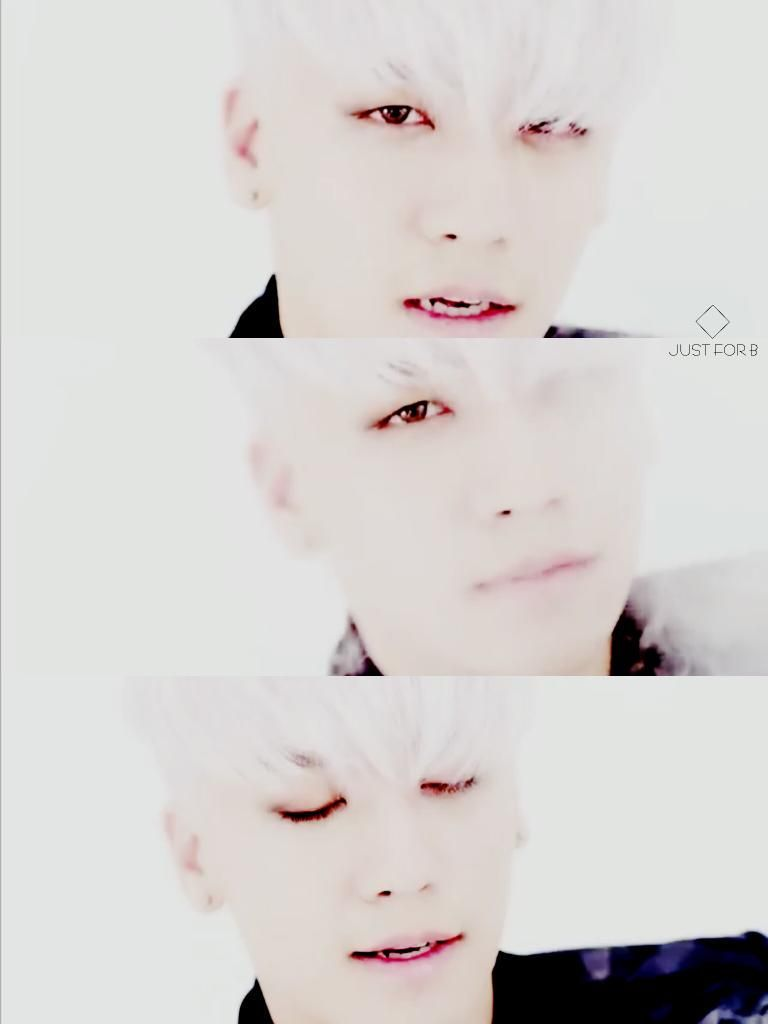 [BAEBAE MV] @ForvictoRi 몽롱한 눈빛.....하....... 갈색 눈동자.....백발..............사랑해요!!!!!!! #BIGBANG #SEUNGRI #저스트비
