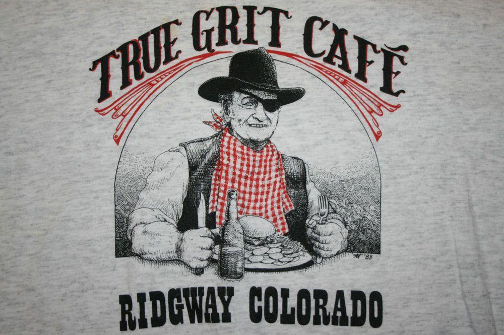 007cdee013e Vintage True Grit Cafe John Wayne caricature Ridgway Colorado T-Shirt Men s  XL  Oneita  GraphicTee
