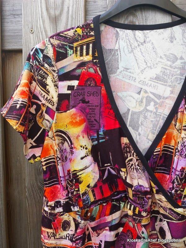 Kloska! CreAtief: Elke maand een kledingstuk mei 4: Ottobre overslagshirt