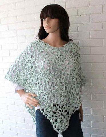 Elegant Poncho Crochet Pattern Home Made Pinterest Crochet