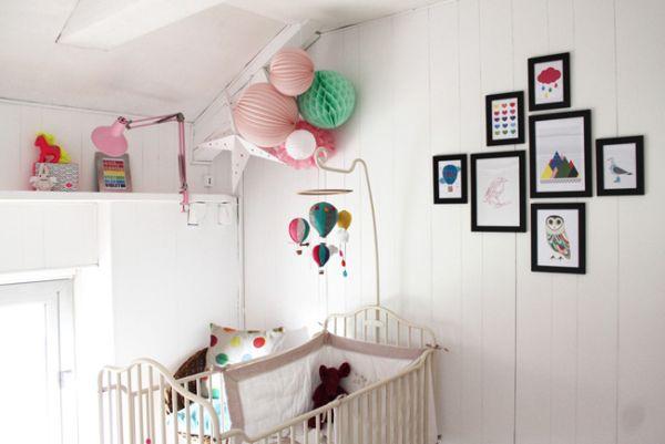deco chambre enfant rose et mint Idées de décoration pour une