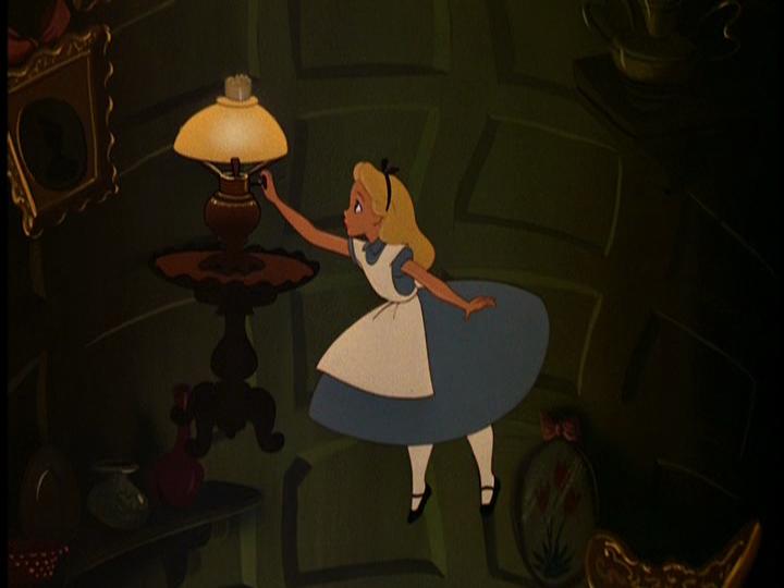 Alice in wonderland alice falling-8422