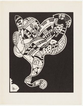 Vasily Kandinsky (French, born Russia. 1866–1944) Plate (folio 12) from 10 Origin, Author: Jean (Hans) Arp, 1942, Woodcut from an illustrated book with six linoleum cuts, three woodcuts and one lithograph