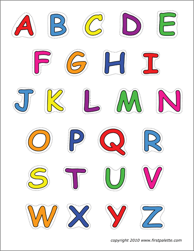 This is a picture of Printable Colored Letters regarding bulletin board