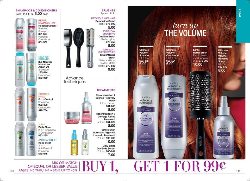Ebrochure  Avon Hair Care Shampoo Treatment Brushes Available