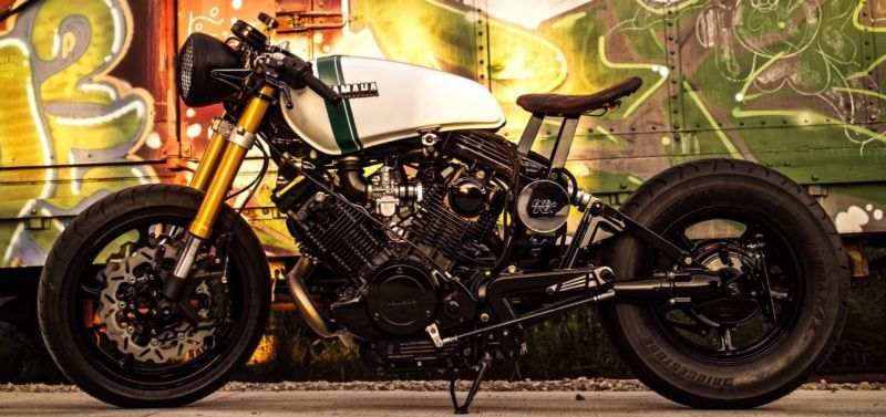Background Here We Have A Fully Custom Built 1982 Yamaha Virago Xv920 With A Café Racer Bobber Style Stance And R Yamaha Virago Custom Cafe Racer Cafe Racer