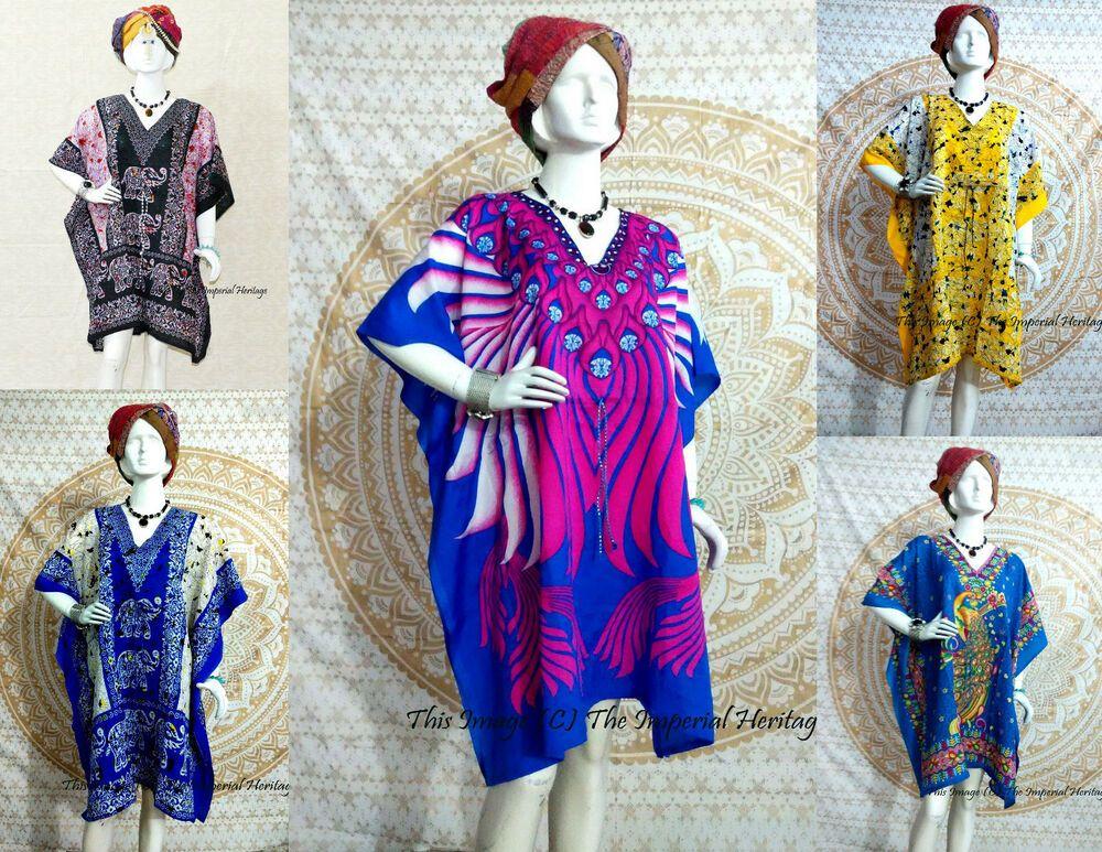 African Kaftan Dress Boho Hippie