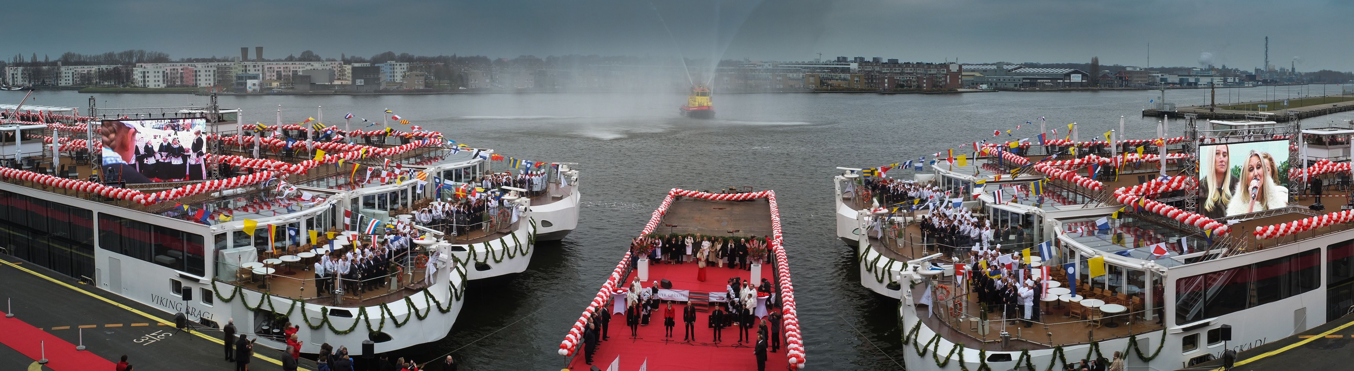 Four Of The 10 New Viking Longships That Were Christened In