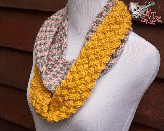 Crochet infinity scarf pattern. crochet pattern, scarf pattrn ...