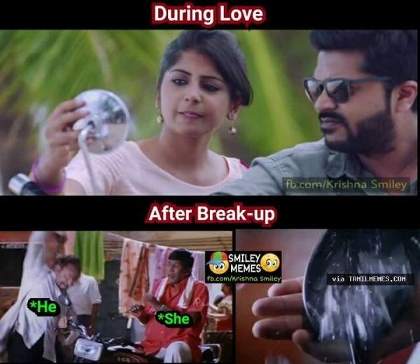 Love Vs Breakup Tamil Funny Memes Funny Memes About Girls Vadivelu Memes