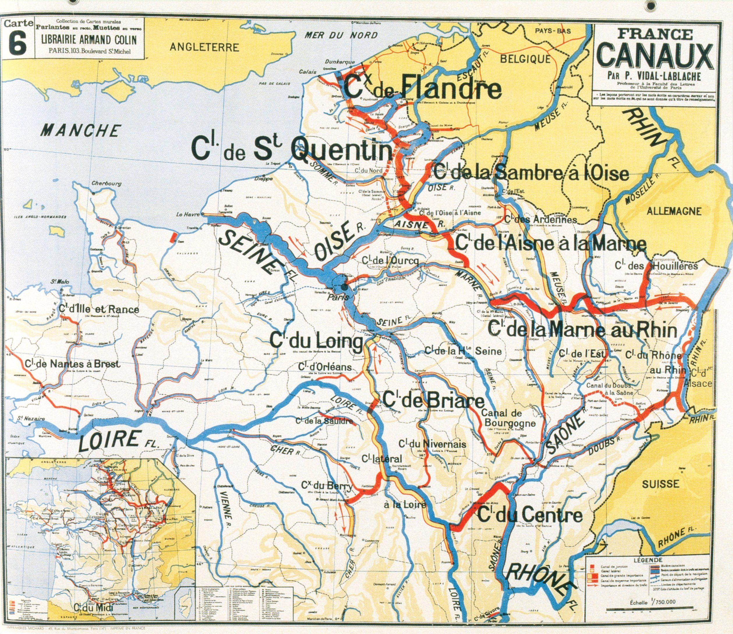 Canaux de France | Old maps