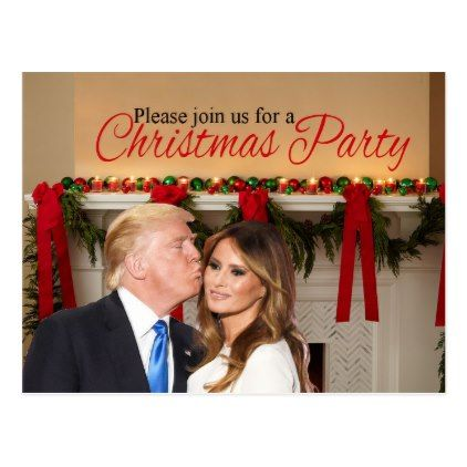 A Christmas invitation from Donald and Melania Postcard - merry