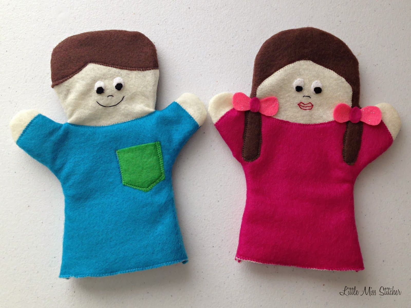 how to make handmade puppets diy boy and felt puppets miss stitcher 3658
