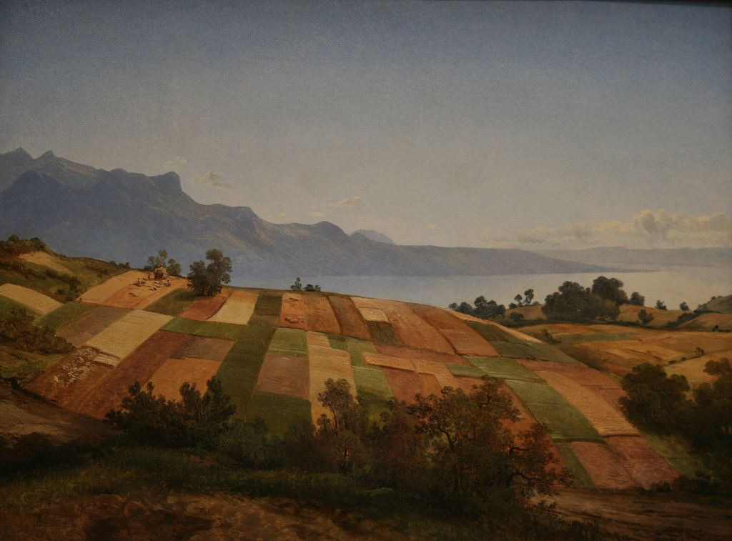 Swiss Landscape, oill on paper on canvas, ca. 1830, Alexandre Calame (Swiss, 1810-1864), National Gallery of Art, Washington DC., 2012