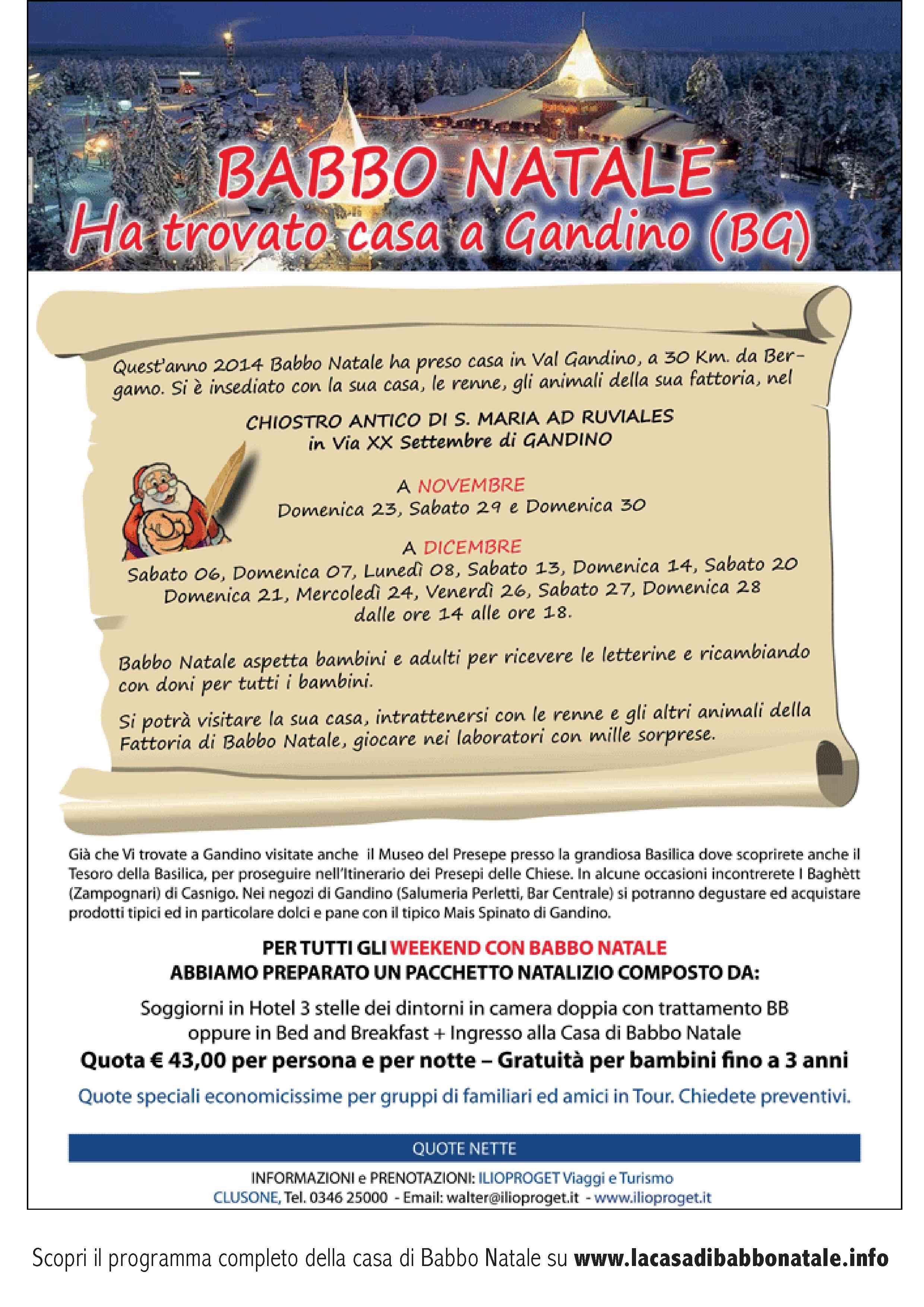 Il costo del biglietto è di € 8.00 per tutti (solo il 24 dicembre ingresso speciale a € 5.00) e i bambini fino a 3 … Pin Su La Casa Di Babbo Natale
