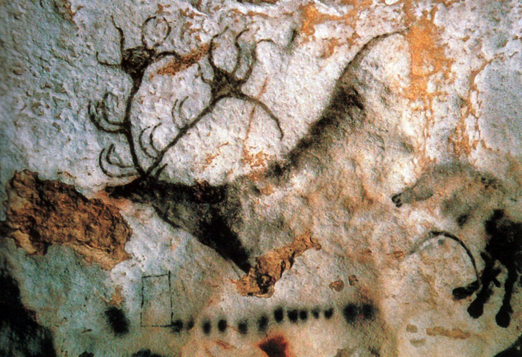 Stag, Lascaux Cave, France | Stone age | Pinterest | Cave ...