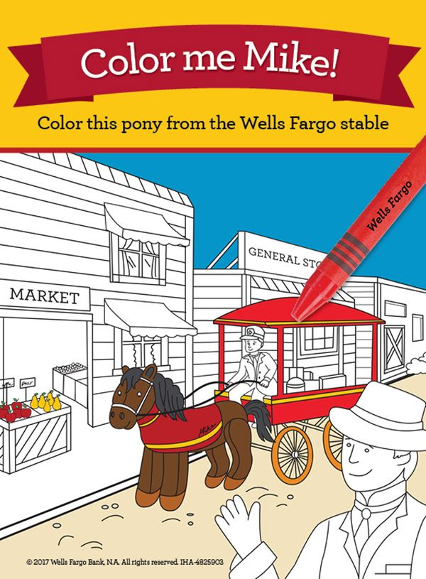 Download The Coloring Page For Mike He Was Afraid Of Loud Puffing Trains But With His Driver Mr Miller Mike Pony English Activities Wells Fargo