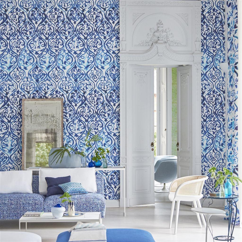 Arabesque Cobalt Wallpaper Designers Guild Arabesque