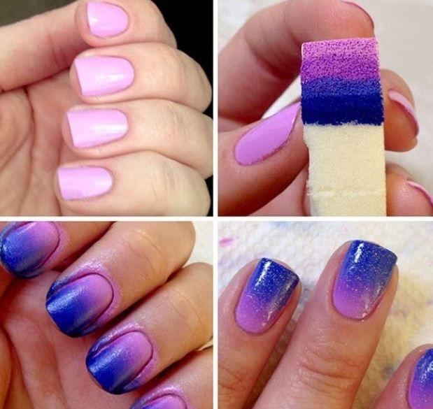 Come Fare Effetto Sfumato Unghie 2014 Nails Make Up Pinterest