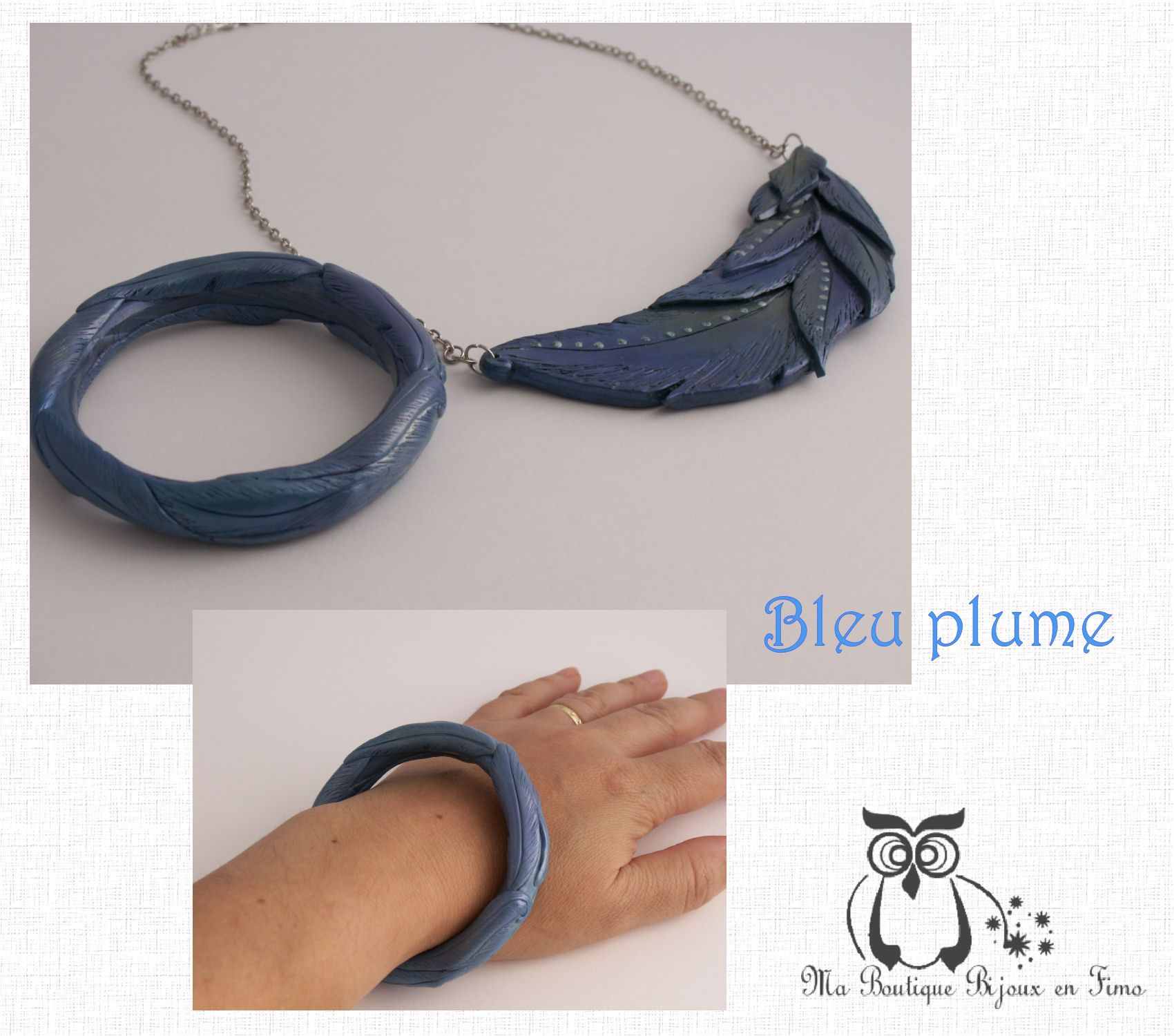 Le Bracelet bleu plume