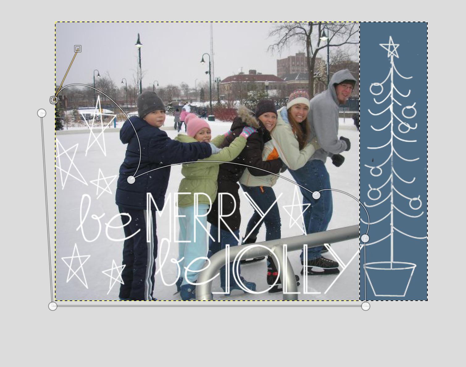Gimp Christmas Card Tutorial Christmas Card Tutorials Diy Christmas Cards Christmas Cards