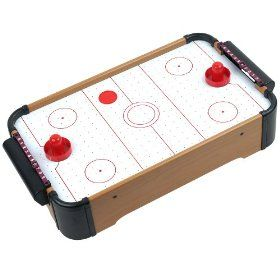 This Mini Air Hockey Table Has A Built In Fan To Give It That Authentic Air Hockey Feel Measuring Roughly 4 Feet Long A Air Hockey Air Hockey Table Mini Table