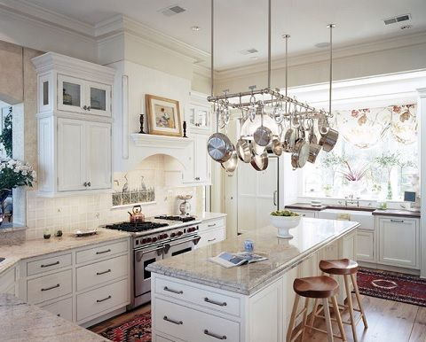 Pot Racks Over Your Kitchen Island Or Underneath Range Hood Bring Nicest Pans Out Into The Open And Add A Nice Rustic Touch To