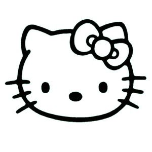 hello kitty clipart black and white google search clay ideas rh pinterest co uk