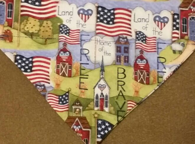 Country Patriotic Dog Bandanas!! by DogGoneGoodBandanas on Etsy