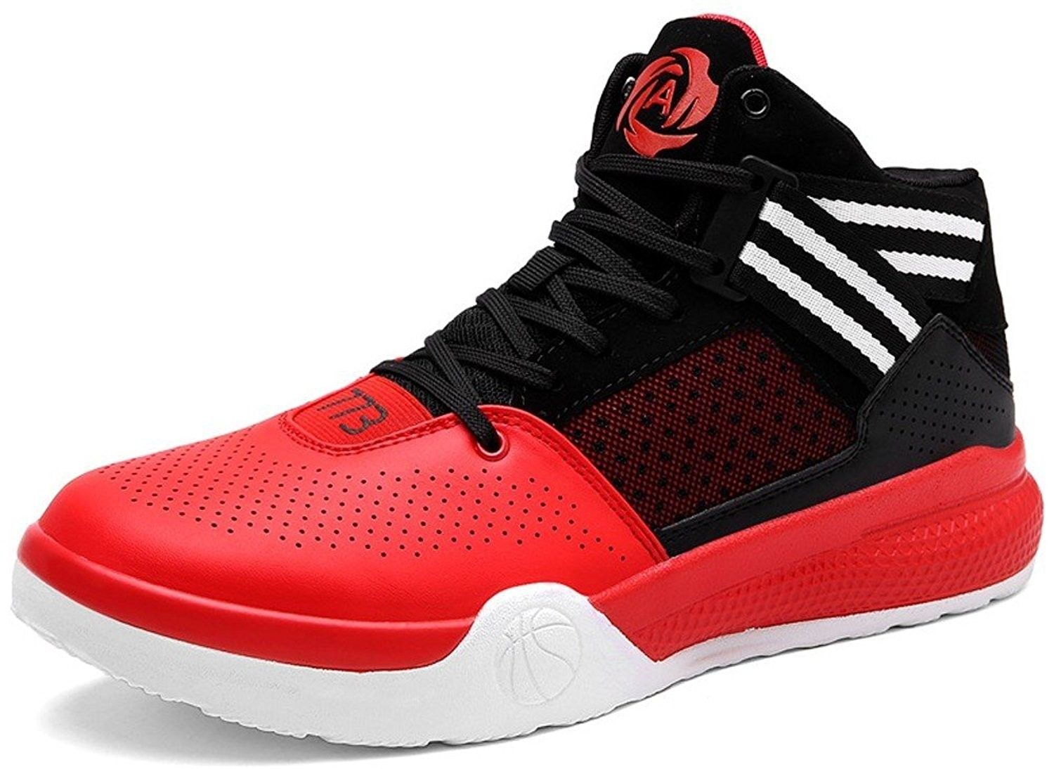 Mens Basketball Shoes Hi-Top Trainers Shoes Lovers Running Shoes Outdoor Sneaker