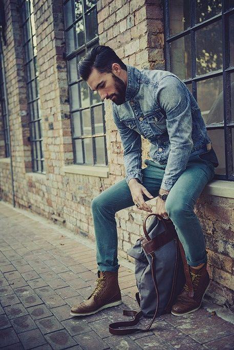 Denim shirt + boots //