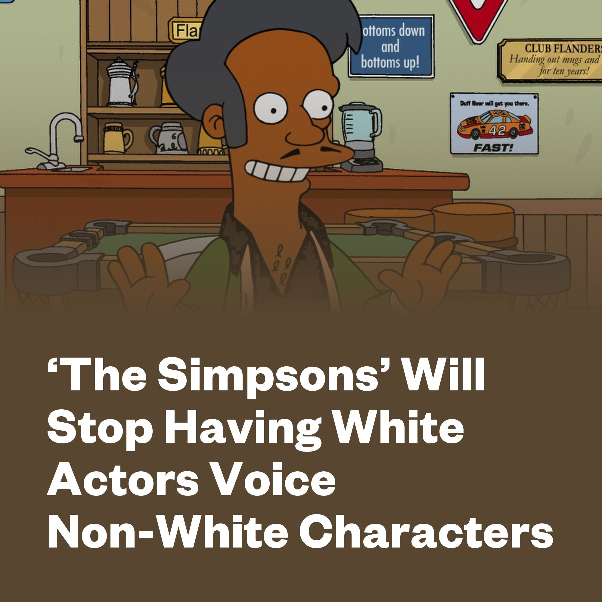 'The Simpsons' Will Stop Having White Actors Voice Non