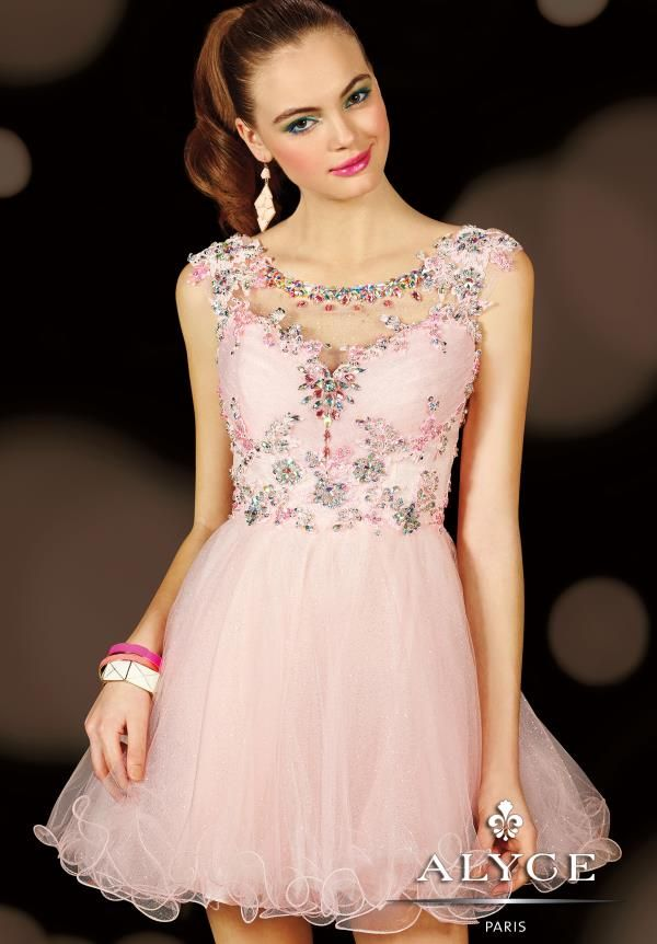 The lace bodice is scattered with bead work to make you sparkle with ...