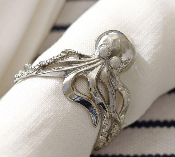 silver octopus napkin rings