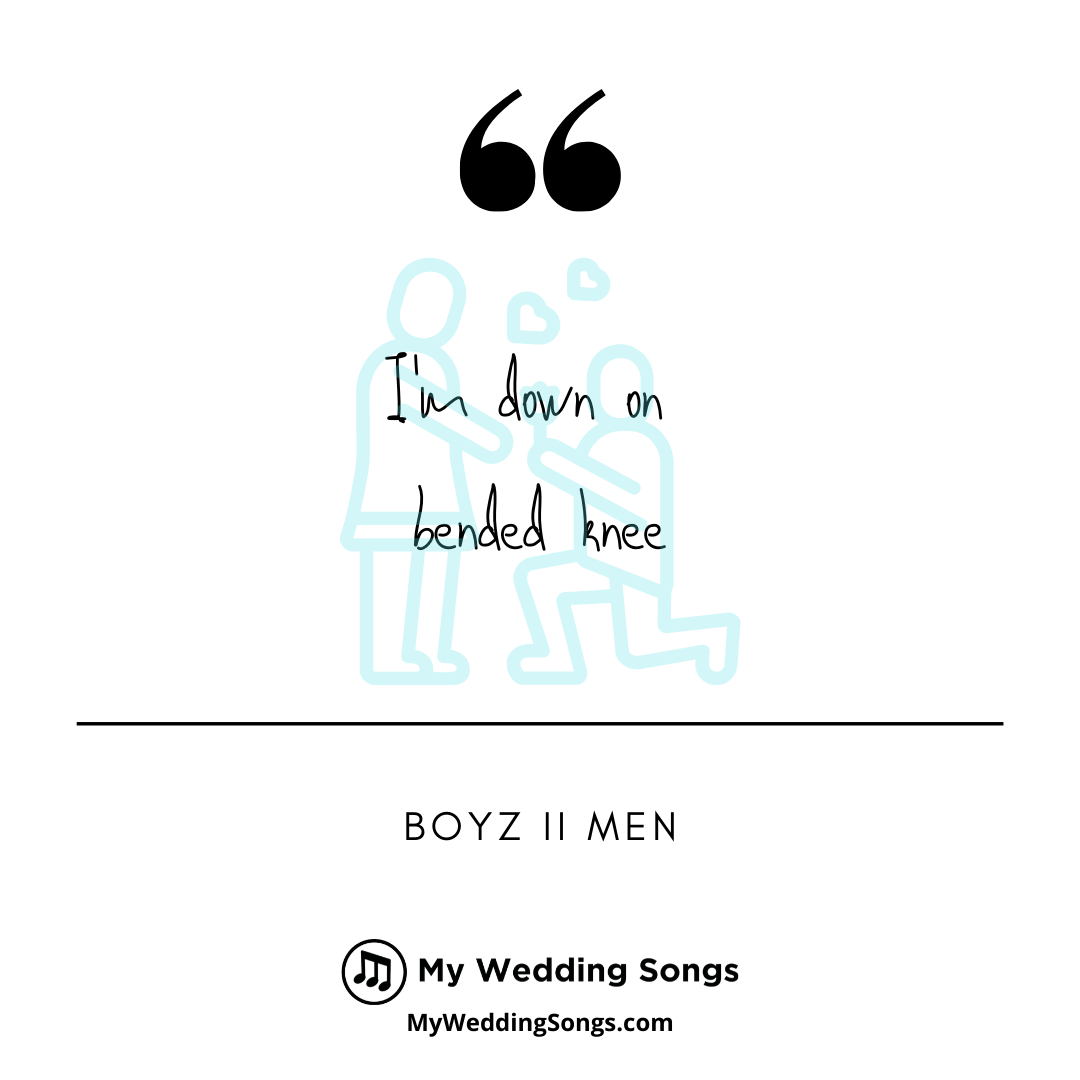 Boyz II Men Songs For Weddings On Bended Knee My Wedding