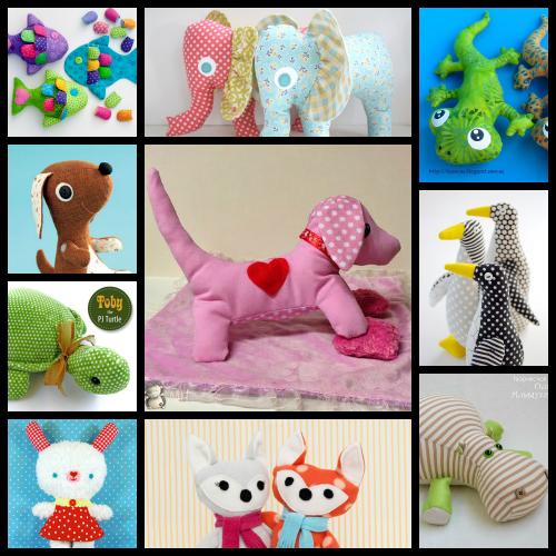 30 patrones sencillos de animalitos de tela manualidades - Manualidades de telas ...