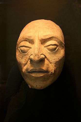 Ancient Mayan Death Mask, it was a  popular medium in cultures all over the world