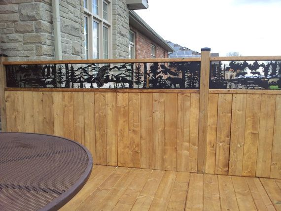 Fence Topper 12 X 96 X 14ga By Ashkofabricating On Etsy 185 00 Fence Toppers Fence Diy Privacy Fence