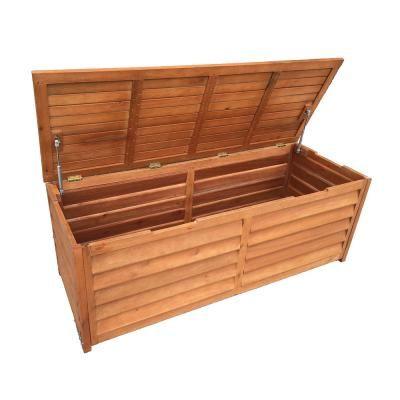 Luxo Eucalyptus Timber Outdoor Storage Chest (150cm ... on Luxo Living Outdoor id=27236