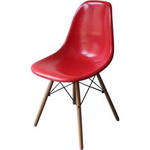 herman miller dsw red chair charles ray eames 1970s